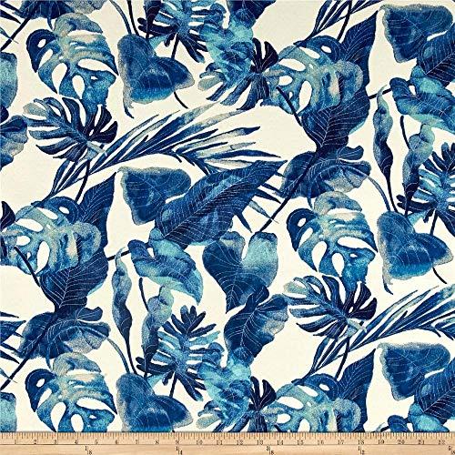 Tommy Bahama 0510863 Indoor/Outdoor Inky Palms Indigo Fabric by the Yard (Indigo Beach Palm)