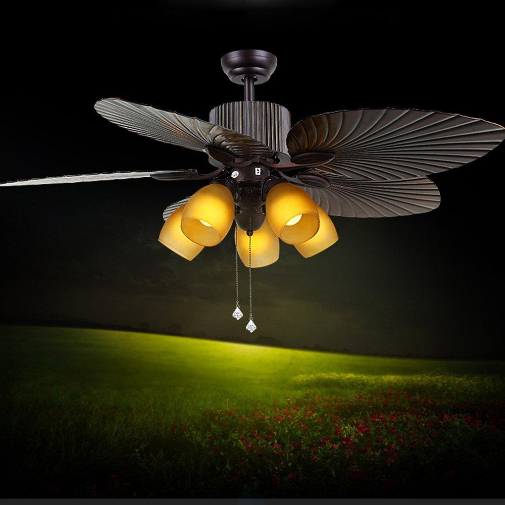 OOFAY American Deckenventilator Lichter Restaurant Mit Lampe Ventilator  Licht Europäischen Retro Wohnzimmer Hause Mit Lampe Ventilator Electric Fan  ...