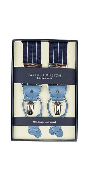 migliore a buon mercato autentico up-to-date styling Albert Thurston Bretelle Uomo Blu Righine Celesti Rifiniture ...