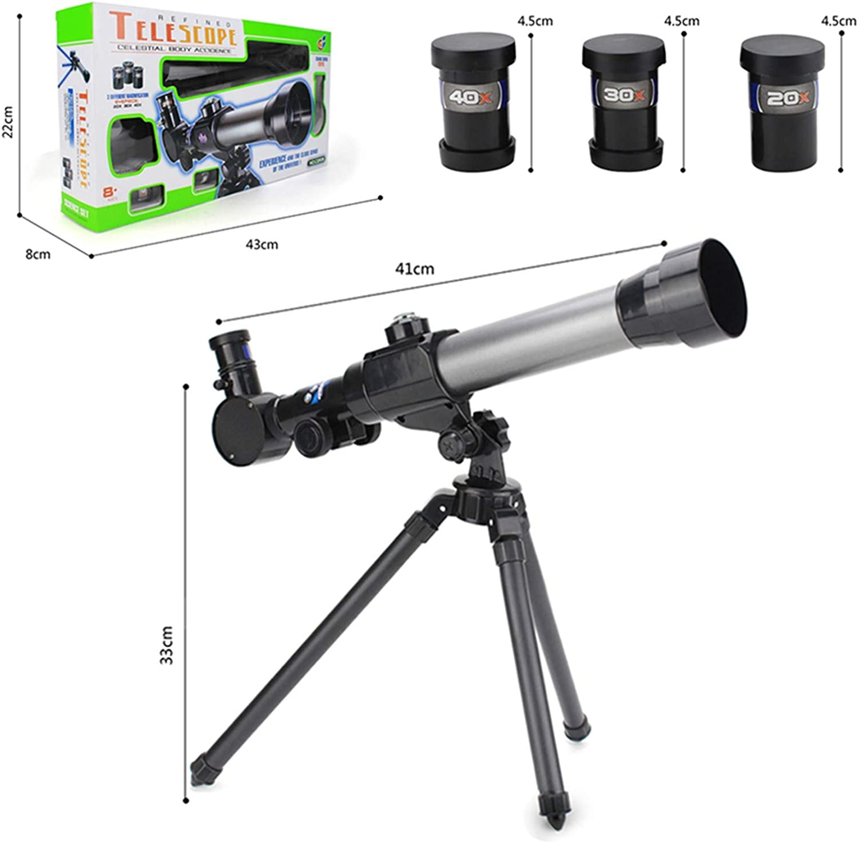 Phoetya Telescope For Kids Beginners Adult 60mm Astronomical Refractor Telescope With Adjustable Tripod /&/& Finder Scope Portable Travel Telescope