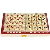 Fenteer 2セット 木製 中国の将棋 折り畳み式 携帯用 細工 ゲーム 贈り物
