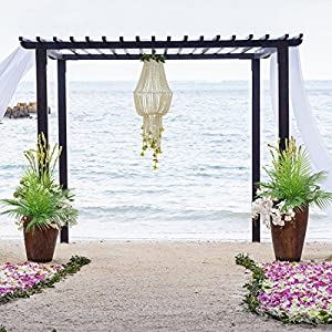 Artificial Plants Greenery Boston Fern Plants Shrubs Tropical Palm Leaf for Indoor Outdoor Wedding Deco 3