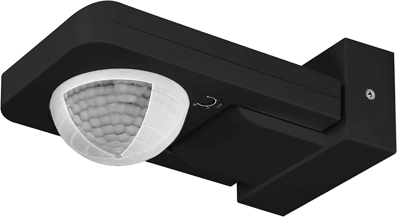ORNO CR-259 Sensor de Movimiento Para Exteriores con Sensor Crepuscular 360 Grados 1200W max. Compatible con LED Impermeable IP65 (Negro)