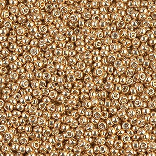 Gold Seed Beads - Miyuki Round Seed Bead Size 11/0 8.5g-tube Galvanized Yellow Gold