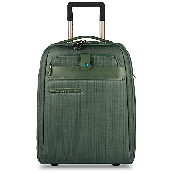 5fc9878fa7e09f Piquadro Ultra Slim Cabin Size Trolley, Green, One Size: Amazon.in ...