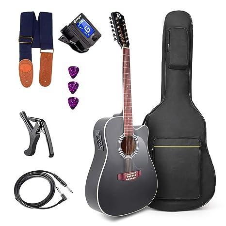 Guitarra eléctrica acústica Vangoa: Amazon.es: Instrumentos musicales