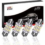 LEDKINGDOMUS DE3175 Led Bulb, 31mm Festoon 6000K White 24 SMD 3014 Chipset Bulb For Car Interior Lights Boat Lights 3021…
