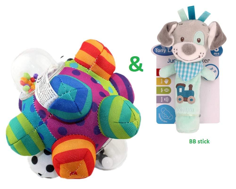 Kids Developmental Bumpy Ball and BB Stick for Baby Pinky