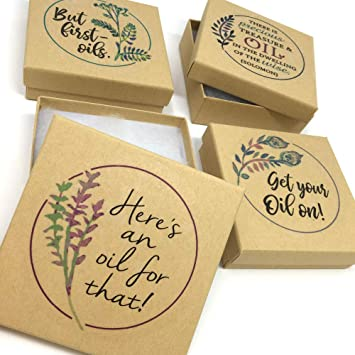 Amazon Com Essential Oil Aromatherapy Kraft Gift Boxes For