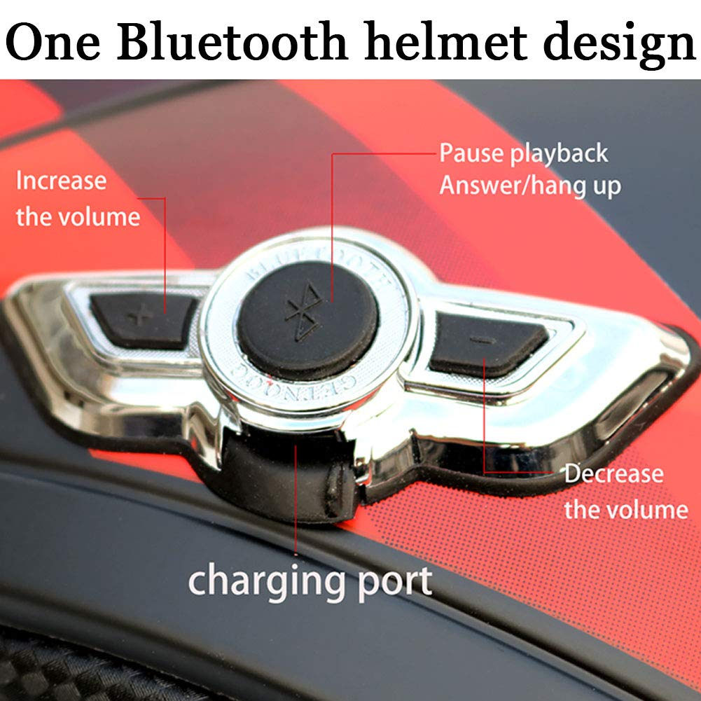 KIKTS Bluetooth for Helmet Highly-Breathable Modular Flip Front Motorcycle Helmet with Inner Double Sun Visor And Removable Lining