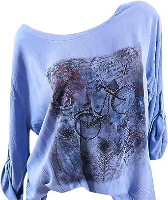 Camisetas Feministas Mujer Ronamick Cortas Manga Blusa Body Mujer Tops Encaje Cortas Manga Camisa Victoriana Mujer (Azul,XXXXXL): Amazon.es: Bricolaje y herramientas