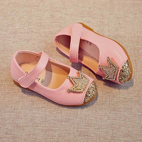 Igemy 1 Paar Kleinkind Kinder Mädchen Baby Perlen Prinzessin Crown Sandalen Schuhe Rosa