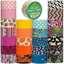 Duck Brand Duct Tape (25 Random Rolls) Colored Duct Tape Multi Pack For Duct Tape Craft Wallet Decorative Designs DIY Duct Tape Bulk Set Lot
