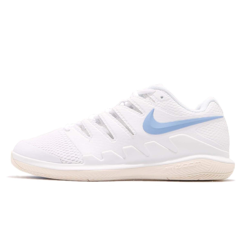 Multicolour (White University bluee Light Cream 001) Nike Men's Air Zoom Vapor X Hc Low-Top Sneakers