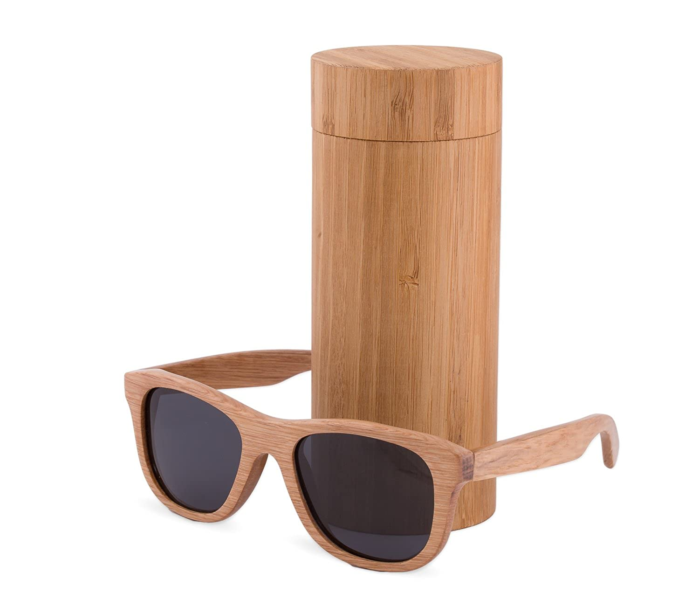 NEW UNISEX (Damen Heren) Holz Sonnenbrille + hölzernen Kasten Retro Vintage Brille SUNGLASSES UV400 Protection