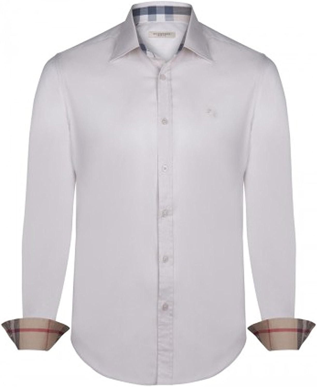 BURBERRY - Camisa formal - para hombre beige M: Amazon ...