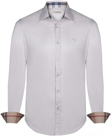 BURBERRY - Camisa formal - para hombre beige M: Amazon.es ...