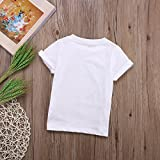 Kids Baby Girl Curly Hair Don't Care Printed Summer White T-Shirt Short Sleeve Tops