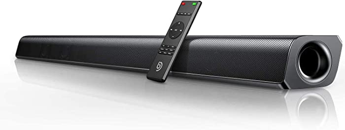 Bomaker 37-inch Home Theater TV Soundbar Wired & Wireless Bluetooth 5.0 Speaker, TV Remote Compatibility, HDMI ARC/Optical/RCA/Aux/USB Connection