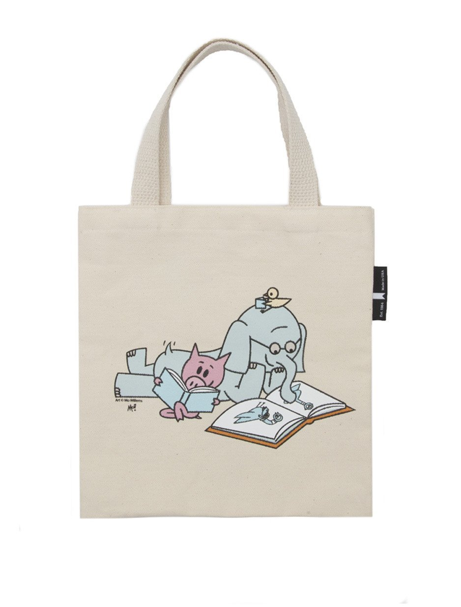 Out of Print Elephant and Piggie Read Kid's Tote Bag, 10.5 X 10.5 Inches by Out of Print (Image #2)