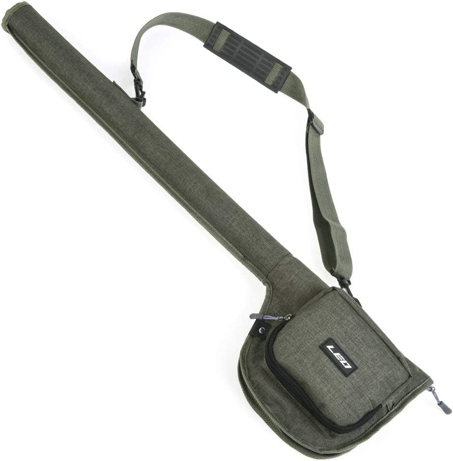 Tickas Fishing Rod Bag,Canvas Fishing Rod Bag Portable Fishing Rod Reel Storage Tubes Cases Fishing Rod Fly Fishing Bag