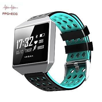 OOLIFENG Actividad Tracker Relojes Pulsómetros Pulsera Deportiva Para Iphone Android Teléfonos,Blue: Amazon.es: Deportes y aire libre