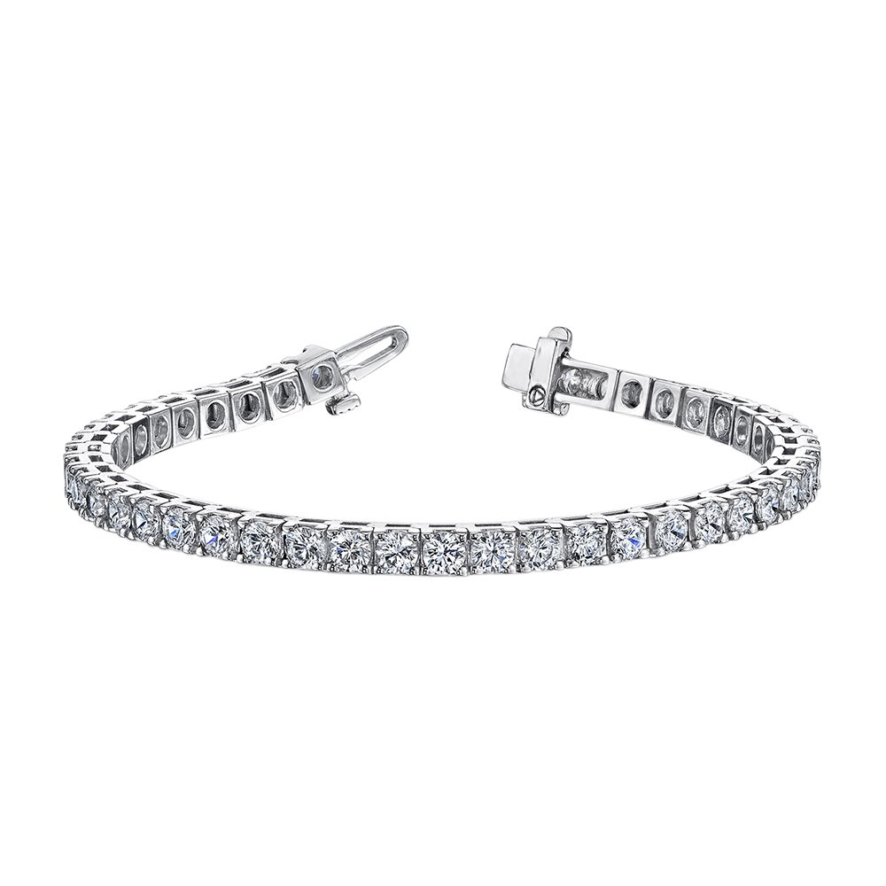 3 ct. Diamond Riviera Tennis Bracelet in Sterling Silver (Color GH, Clarity I2-I3)