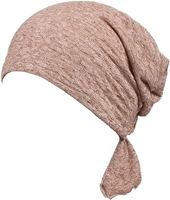 YONKINY Sombrero Turbantes De Cancer Quimioterapia Para Mujer Cómodo Respirable 100% Algodón Gorro Oncológico Pañuelos Cabeza Perdida de Cabello Headwear Abrigo del Pelo (Caqui): Amazon.es: Ropa y accesorios