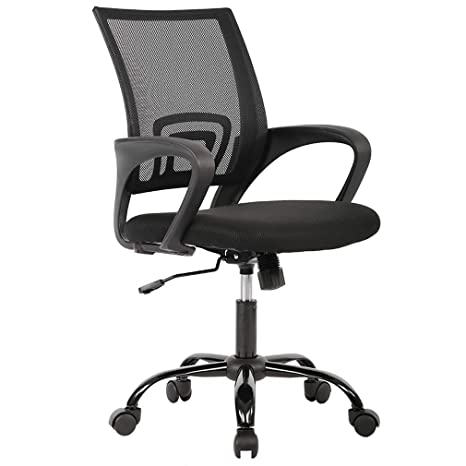 Amazon Com Office Chair Ergonomic Cheap Desk Chair Mesh Computer Chair Lumbar Support Modern Executive Adjustable Stool Rolling Swivel Chair For Back Pain
