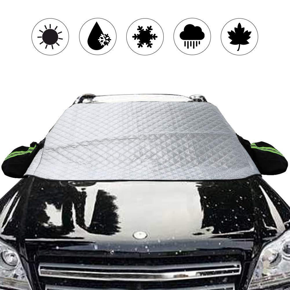 Snow Windshield for Car-All Weather Universal Half Car Snow Shade Covers Windproof//Dustproof//Scratch Resistant Outdoor UV Protection Vehicle Front Window Cover Fits Sedan CARSUN 4350433342