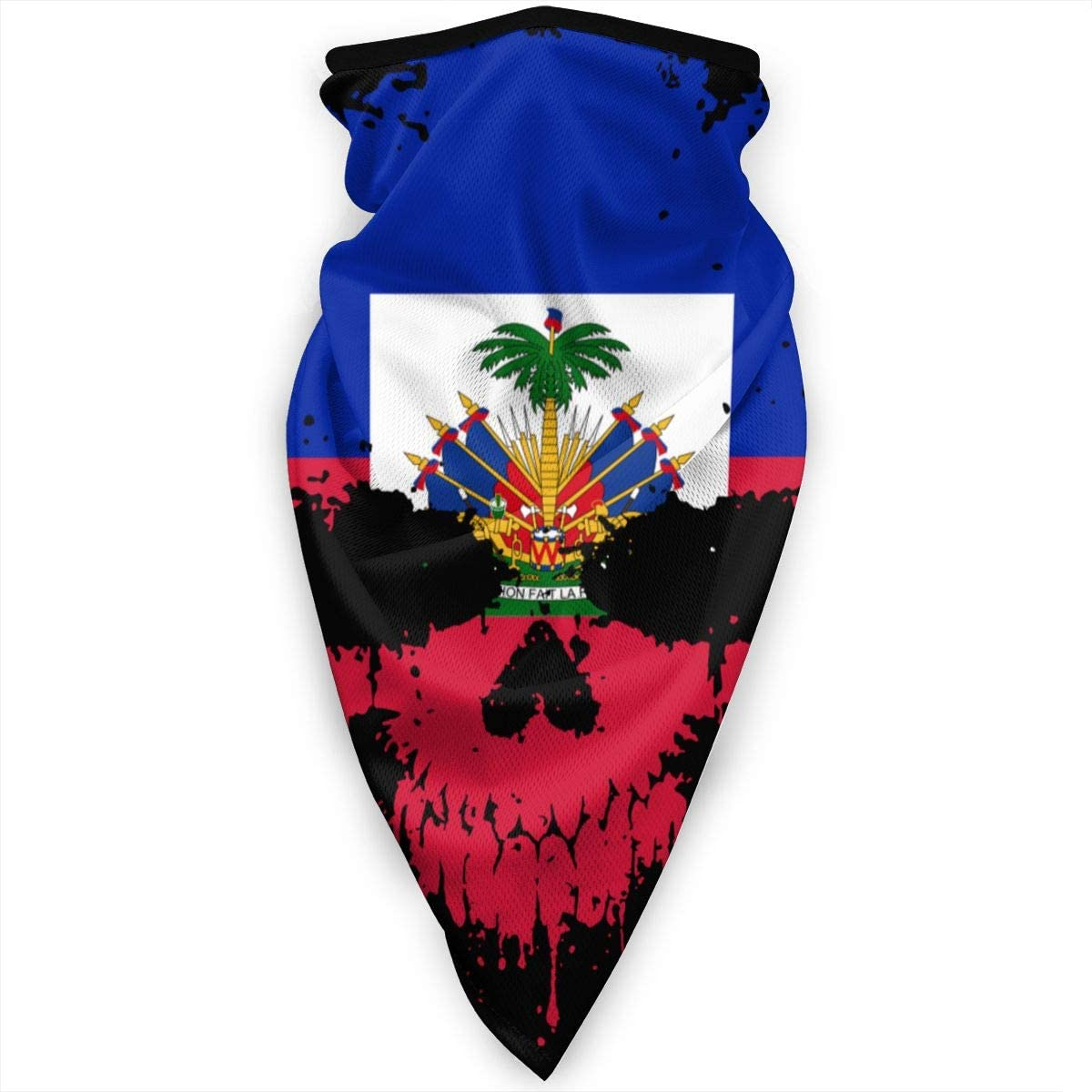 B07YDWBNJJ Haitian Haiti Skull Flag Face Mask Neck Gaiters Bandana Scarf Balaclava Multifunctional Headwear for Outdoor Sports Black 61UwPK8bq2L