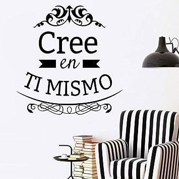 Cree en ti mismo Vinilo Adhesivos de pared Cita española ...