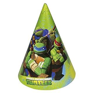 Sacchetti con Motivo per Compleanno Bambini 6 Sacchettini Regalo Tartarughe Ninja Sportine per Festa Sacco di plastica per Festeggiamenti Borsine Omaggio Ninja Turtles Bustina Regalo ricordino Amakando
