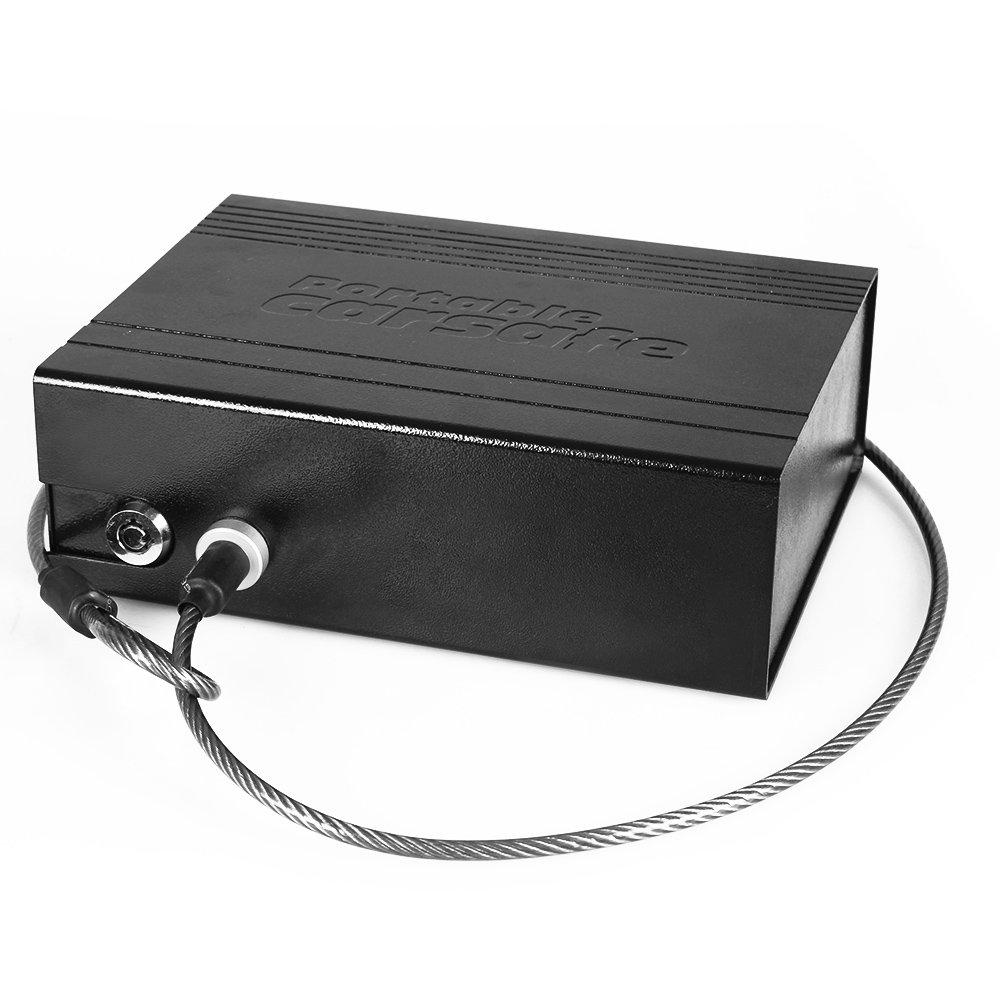 fabselection車安全ハンドガンセーフロックVault個人Vaultセキュリティロックボックス、ブラック B01CXXUNFI