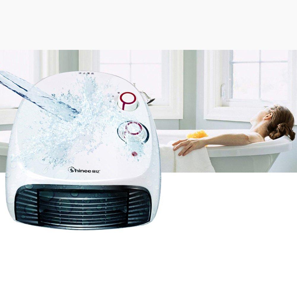 Calentador de baño de doble uso Electrodomésticos a prueba de agua Colgante de pared Calentador eléctrico de la oficina: Amazon.es: Hogar