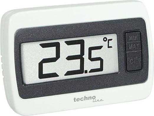TechnoLine WS 7002 Estación de Temperatura, Blanco y Gris, 6.00x1.40x4.00 cm: Amazon.es: Jardín