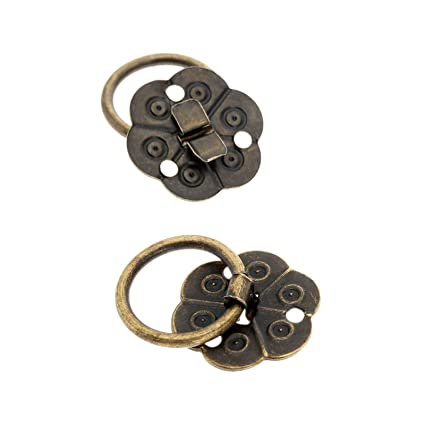 Dophee 12pcs 079 Antique Brass Small Pull Handle Knobs For Jewelry