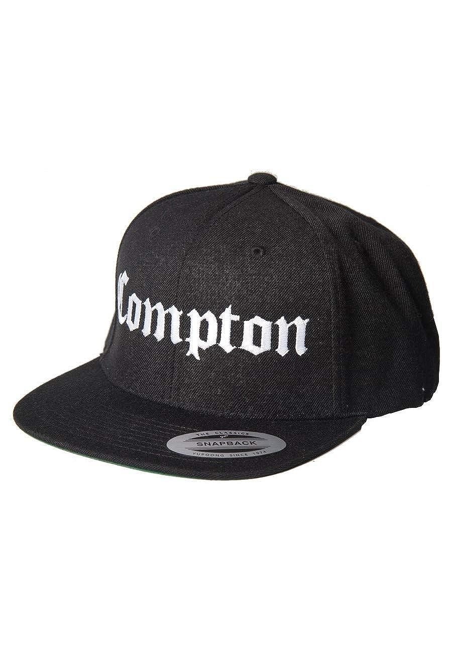7c9185b5f02 Magic Custom - Casquette Snapback Compton - Noir - Taille Ajustable   Amazon.fr  Vêtements et accessoires