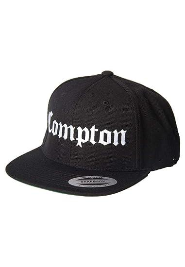 Magic Custom - Casquette Snapback Compton - Noir - Taille Ajustable ... c1dfa961361