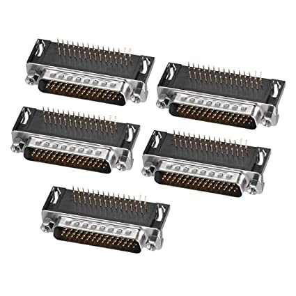 uxcell D-sub Connector Female Socket 25-Position 2-Row Crimp Style Port Terminal Breakout for Mechanical Equipment Black Pack of 1