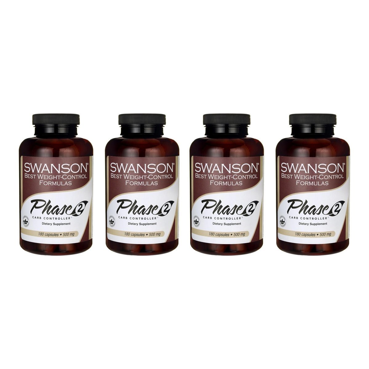 Swanson White Kidney Bean Extract 500 mg 180 Caps 4 Pack by Swanson (Image #1)