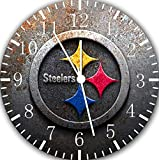 Steelers Frameless Borderless Wall Clock X45 Nice For Gift or Room Wall Decor