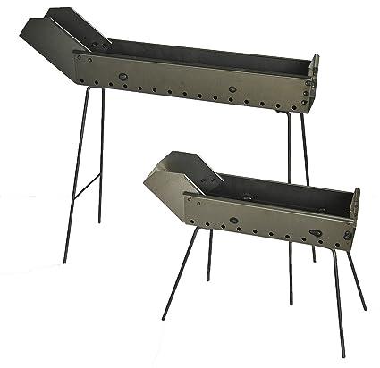 Barbacoa arrosticini fornacella de hierro 100 cm con patas plegables y caño fabricado de Abruzzo