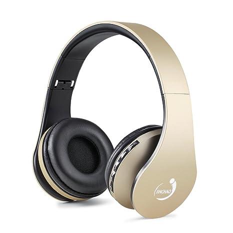 JINCHAO Wireless Auricolari Cuffie Bluetooth 4.0 Stereo Headphones Cuffia  Auricolare con Mic MP3 Player MicroSD   d01e70816932
