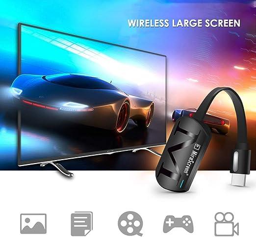 KOBWA WiFi Pantalla Dongle , Wireless HDMI Pantalla Espejo TV Receptor Adaptador Stick Soporte Netflix Youtube Miracast Airplay DLNA para Android/Mac/iOS/Windows: Amazon.es: Hogar