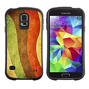 Paccase / Suave TPU GEL Caso Carcasa de Protección Funda para - Colorful Rainbow Painting Art Lgbt Rights Waves - Samsung Galaxy S5 SM-G900