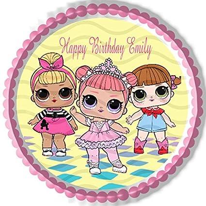 Amazon Com Lol Suprise Dolls Nr1 Edible Cake Topper 10 Round