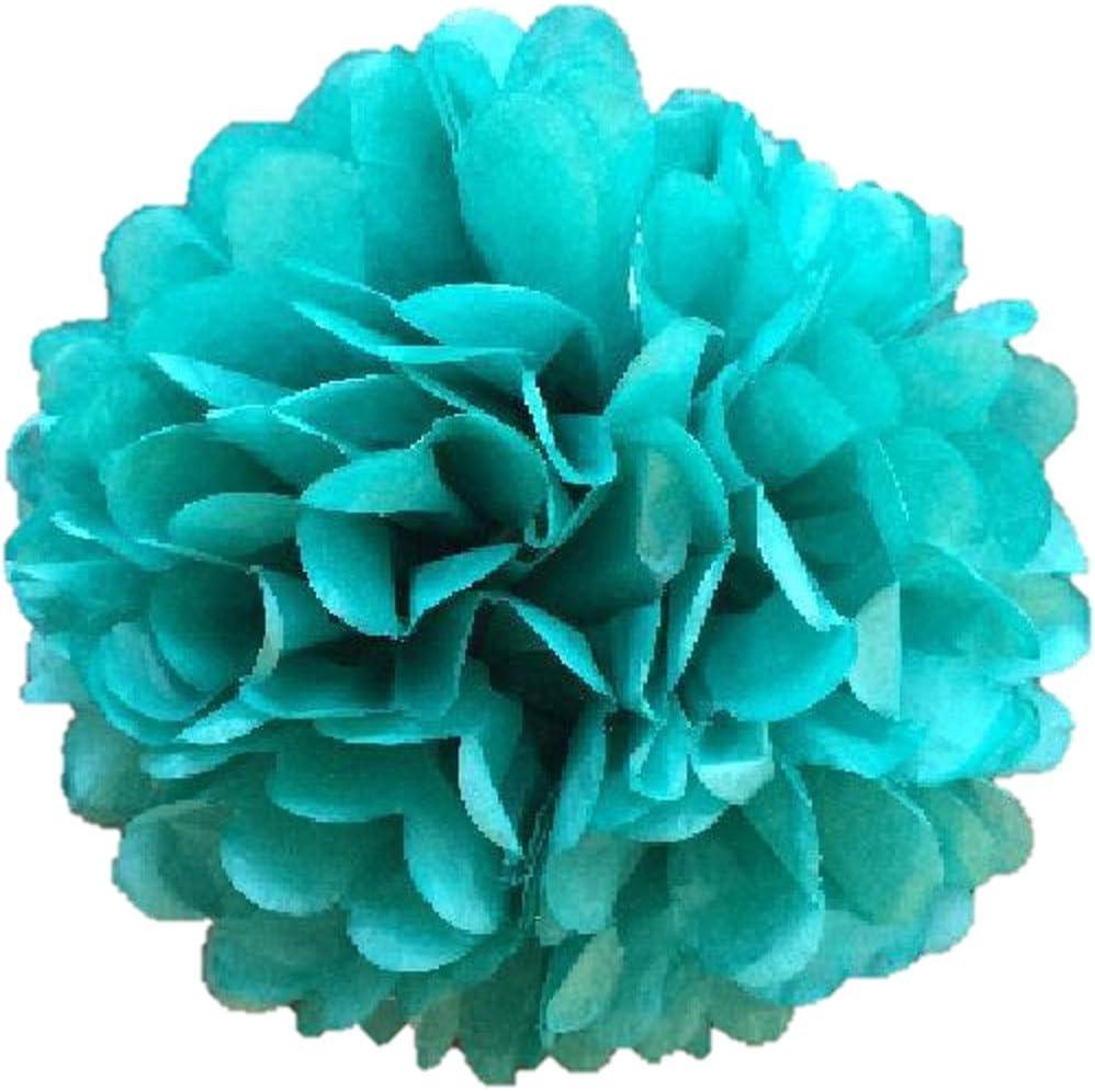 Pack Of 10 Tissue Paper Pom Poms 14 35 CM Flower Balls Handmade Wedding Party Decoration Fuchsia