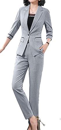 Scothen Tailleur-Pantalon pour Femmes Slim