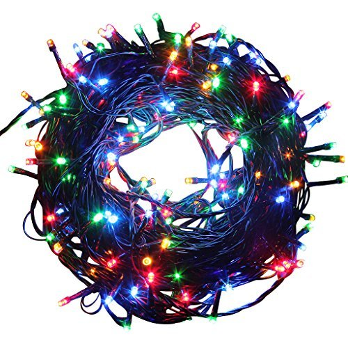 Excelvan Safe Low Voltage 250 LEDs 50M/164FT Dimmable Fairy String Lights with 8 Modes for Bedroom Patio Garden Gate Yard Party Wedding Christmas Decoration, Multi Color ()